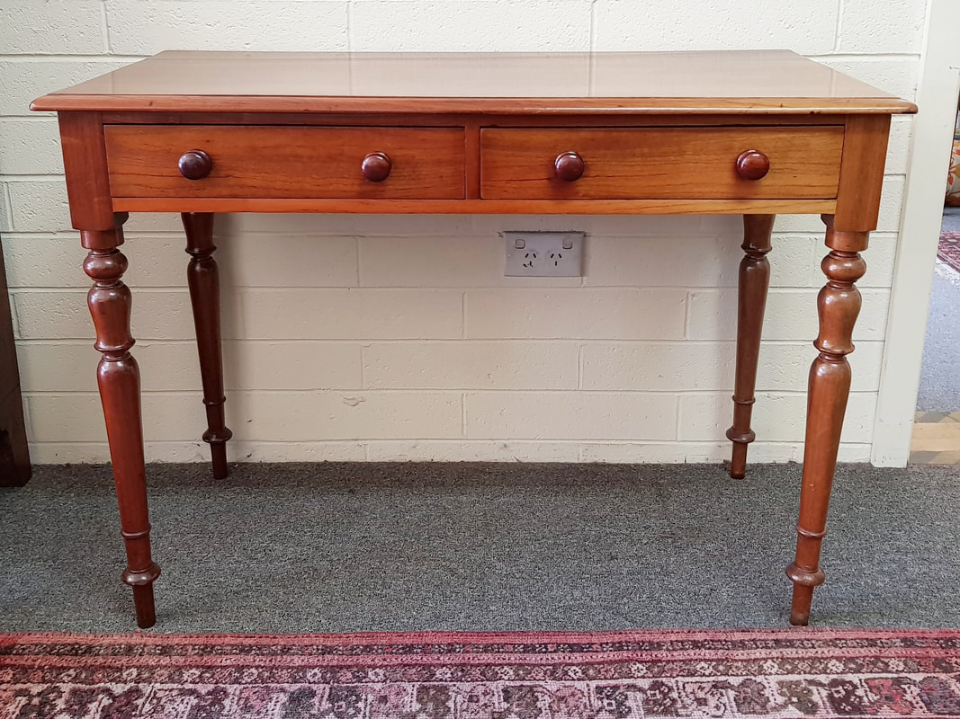 Colonial Cedar Desk / Side Table with 2 Drawers c.1850 - $675