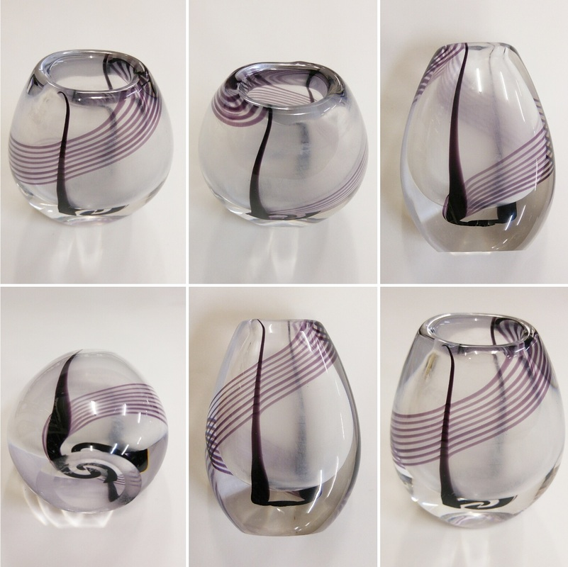 Kosta Boda Art Glass Vase designed by Vicke Lindistrand c.1970 - $95